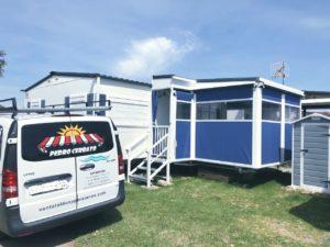 toldos para casas portatiles camping prefabricadas